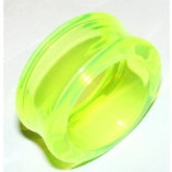Giant Gauge UV Green Flared Acrylic Flesh Tunnel 26mm - 50mm