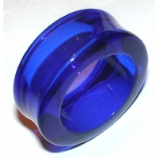 Giant Gauge Blue Flared Acrylic Flesh Tunnel 32mm - 50mm