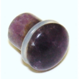 Amethyst Stone Single Flared Bullet Plug 3mm - 14mm