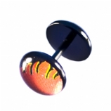 Flames Black Flexi Fake Plug