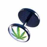 Hash Leaf Black Flexi Fake Plug