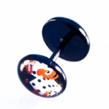 Burning Dice Black Flexi Fake Plug