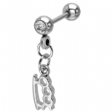 Knuckleduster Dangle Tragus / Helix Bar