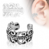 Swirls Clip On Fake Helix Ear Cuff