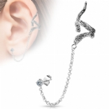 Snake Ear Cuff Lobe Piercing Chain - Only One Standard Ear Piercing Required