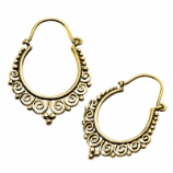 Circa Casted Brass Ear Rings - Pair