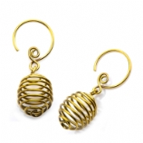 Magnu Casted Brass Ear Rings - Pair