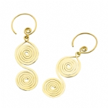 Revolite Casted Brass Dangle Ear Rings - Pair