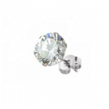 Crystal CZ Surgical Steel Ear Stud Earring - Single Ear Ring