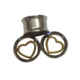 Heart Insert Steel Tunnel 10mm - 25mm