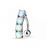 Prong Opal Reverse Dangle Belly Bar
