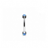 Opal Ball Steel Curved Micro Barbell - 1.2mm