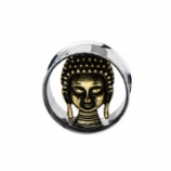 Buddha Head Steel Double Flared Flesh Plug
