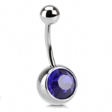 Giant Gem Belly Piercing Bar