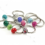 Crystal Discoball Resin Glitter Ball Closure Ring 1.2mm
