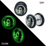 Zombie Wife Picture Logo Glow in the Dark Fake Plug