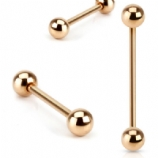 Rose Gold Anodised Straight Barbell - 1.6mm