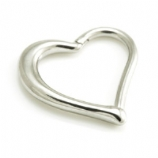 Heart Shaped Surgical Steel Hinged Daith Ring Clicker
