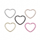 Seamless Heart Shaped Piercing Ring - 1.2mm - Suitable for Pierced & Unpierced Ears!
