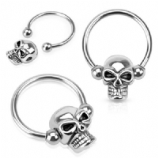 Skull Bead Ball Closure Ring