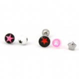 Star Balls Novelty Tongue Bar Value Pack - Pink