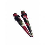 Urban Camouflage Print Ear Stretching Taper