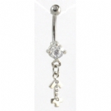 Sagittarius Sign Zodiac Dangle Belly Piercing Bar