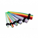 Pride Rainbow Ear Stretching Taper 3mm - 10mm