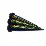 Rainbow Leopard Print Ear Stretching Taper
