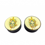 Tattoo Skull & Dagger Saddle Plug