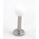 Pure White Ball Or Spike Tragus / Helix / Conch Micro Labret Stud - 1.2mm