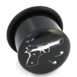 Gun & Bullets Single Flared Plug 8mm - 18mm