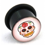 Sugar Skull Logo Single Flared Plug 10mm - 18mm