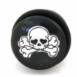 Love Skull Logo Single Flared Plug 8mm - 18mm
