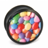 Smarties Sweets Mega Ikon Large Gauge Ear Plug 22mm - 30mm