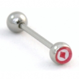 Diamonds - Card Suit - Logo Tongue Piercing Bar