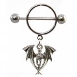 Gothic Vampire Dangle Nipple Rounder Shield & Bar