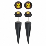 Ironman Logo Licensed Official Taper Fake Plugs (Pair)
