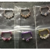 IN STOCK - Titanium Prong Set Faceted Gem Septum Clicker #6