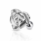 Large Steel Rose Flower Surgical Steel Tragus / Helix Bar