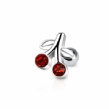 Red Cherry Surgical Steel Tragus / Helix Bar