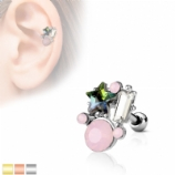 Crystal Stars and Opalite Stones Tragus Helix Bar