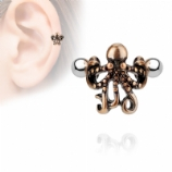Octopus Cuff Shield Helix / Ear Cartilage Bar