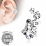Star Cluster Surgical Steel Helix / Cartilage / Ear Lobe Bar