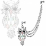 Owl Dangle Cartilage & Lobe Piercing Chain