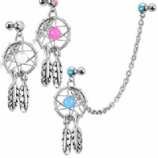 Dreamcatcher Dangle Cartilage & Lobe Piercing Chain