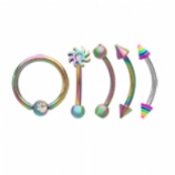 Anodised Rainbow Steel Value Pack