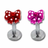 Gem Bow Internally Threaded Micro Labret Bar
