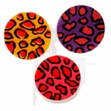Leopard Print Silicone Double Flared Plugs 6mm-25mm