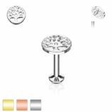 Tree of Life Internally Threaded Micro Labret Stud - 1.2mm